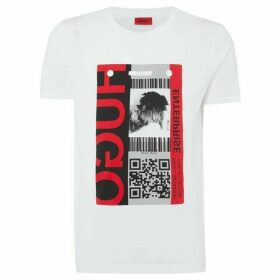 Hugo Didentity Barcode Graphic T-Shirt