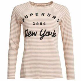 Superdry Appilque Raglan Stripr T-shirt