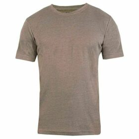 Bar Harbour by Double Two Plain Marl Ribbed Neck T-Shirt