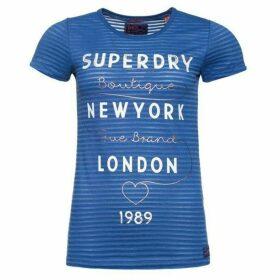 Superdry Glitter Burnout Stripe T-Shirt