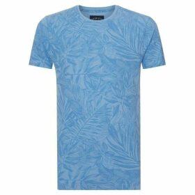 Criminal Sea Breeze Printed Pique T-Shirt
