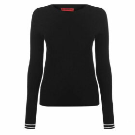 Hugo Sloggy Ribbed Knit Sweater