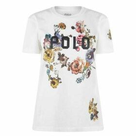 Polo Ralph Lauren Polo Ralph Lauren Logo Flower T Shirt