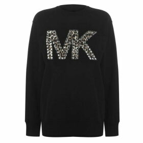 MICHAEL Michael Kors Cheatah Logo Sweater