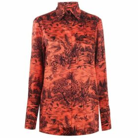 Victoria by Victoria Beckham Forest Printed Long Sleeve Shirt