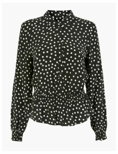 M&S Collection Polka Dot Collared Blouse
