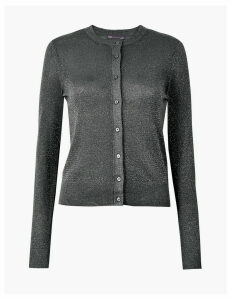 M&S Collection Glitter Round Neck Cardigan