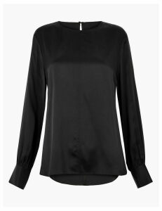 Autograph Pure Silk Blouson Sleeve Shell Top