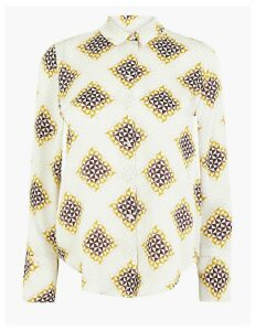 Autograph Satin Geometric Print Shirt