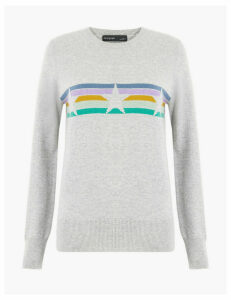 Autograph Pure Cashmere Star Striped Jumper