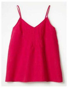 Emmeline Pintuck Top Pink Women Boden, Pink