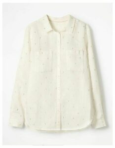 The Linen Shirt Ivory Women Boden, Ivory