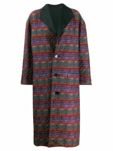 Missoni Pre-Owned 1980s reversible oversized coat - PURPLE