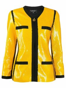 Chanel Pre-Owned 1991 sequinned jacket - Yellow