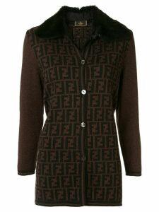 Fendi Pre-Owned Zucca pattern jacket - Brown
