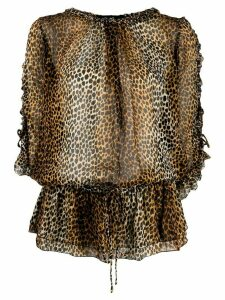 Dolce & Gabbana Pre-Owned 1990s leopard print blouse - Brown