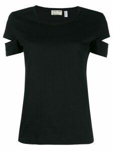 Helmut Lang Pre-Owned split sleeve T-shirt - Black