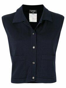 Chanel Pre-Owned CC button vest - Blue