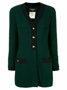 Chanel Pre-Owned CC button cardigan - Green