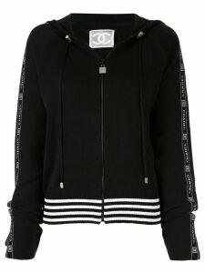 Chanel Pre-Owned Sports Line drawstring zipped hoodie - Black