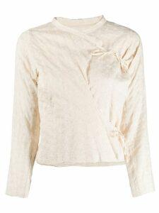 Junya Watanabe Comme des Garçons Pre-Owned 2000s wrap-front blouse -