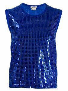 Comme Des Garçons Pre-Owned 2000s sequin-embellished vest - Blue