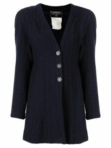 Chanel Pre-Owned 1994 CC button cardigan - Blue