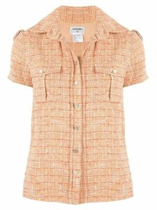 Chanel Pre-Owned Sports Line tweed shirt - Orange