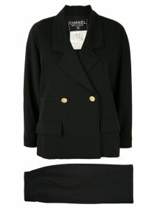 Chanel Pre-Owned double-breasted skirt suit - Black