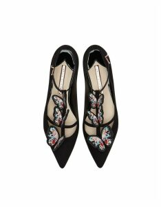 Sophia Webster Black & Multi Riva Flat Ballerinas
