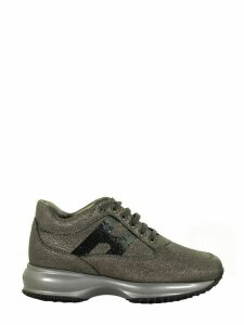 Hogan Interactive Grey Laminated Sneakers