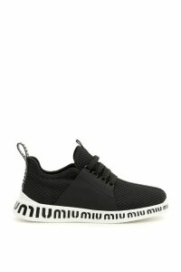 Miu Miu Mesh Sneakers With Logo