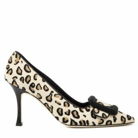Manolo Blahnik Maysale Animal Pony Skin Pumps