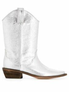 P.A.R.O.S.H. cowboy boots - SILVER