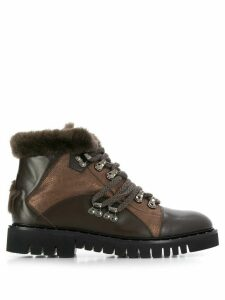 Lorena Antoniazzi fur lined ankle boots - Brown