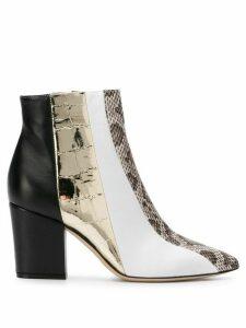 Sergio Rossi 80mm colour block boots - Gold