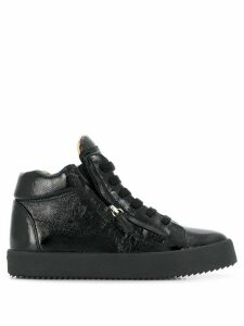 Giuseppe Zanotti Justy patent leather sneakers - Black