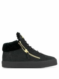 Giuseppe Zanotti Kriss crocodile embossed sneakers - Black