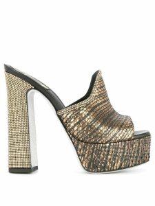 René Caovilla platform heel sandals - GOLD