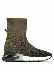 Ash ombre print sock trainers - Black