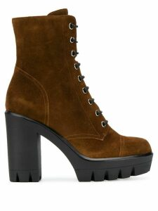 Giuseppe Zanotti lace-up suede boots - Brown