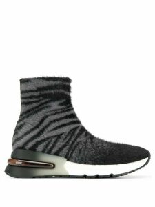 Ash animal print sock trainers - Black