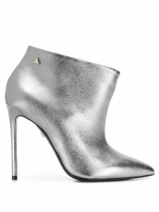 Grey Mer metallic ankle boots - SILVER