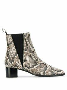 Giuseppe Zanotti snake skin print boots - Black