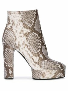 Casadei Manu snakeskin-effect boots - Grey