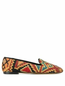 Etro embroidered slippers - Brown