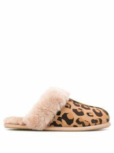 Ugg Australia leopard-print shearling slippers - Brown