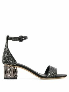 Salvatore Ferragamo stud-embellished sandals - Black