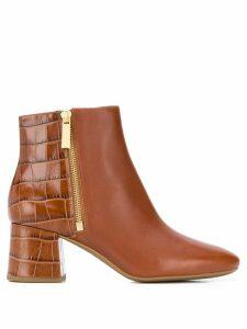 Michael Michael Kors Alane embossed boots - Brown