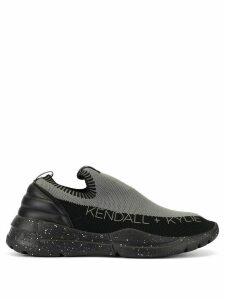 Kendall+Kylie sock-style low-top sneakers - Grey